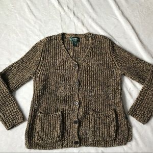 Ralph Lauren Cardigan Unique Sweater chunky knit